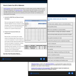 Bill of Materials Checklist